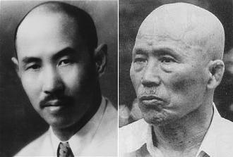 意拳創始者・王向斎(左)とその弟子にして太気至誠拳法創始者・澤井健一(右)