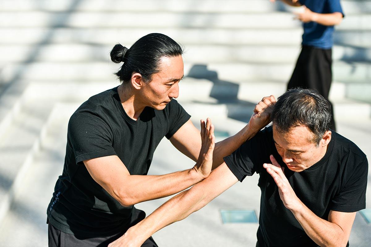 太気拳は素面素手での激しい実戦組手をすることで有名です。