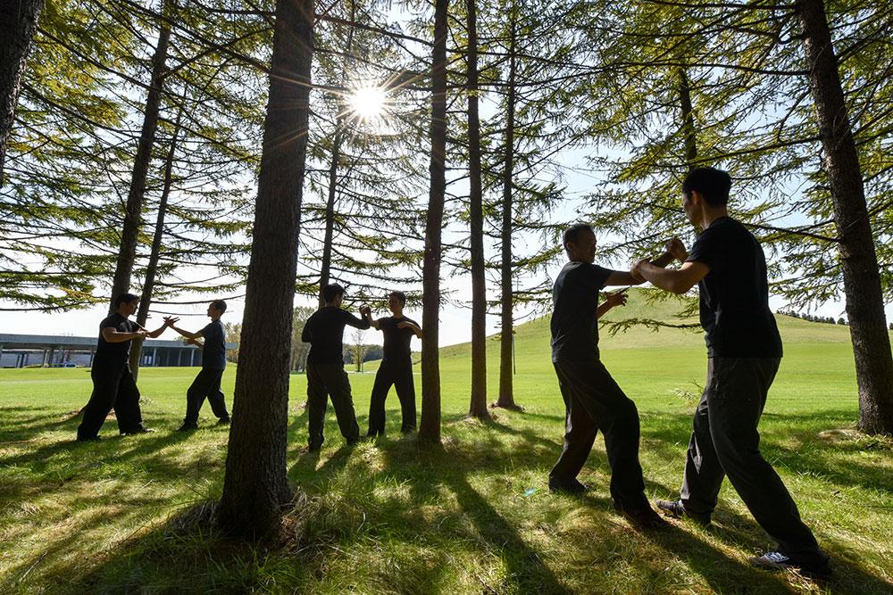 太気拳はもともと、激しい組手稽古を通して他流派と技量を競い、高め合ってきました。