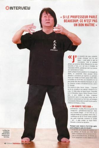 フランスの武術雑誌の取材記事